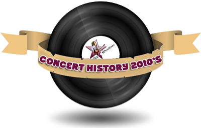 Concert History 2010s